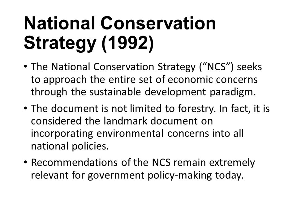 National Conservation Strategy (1992)