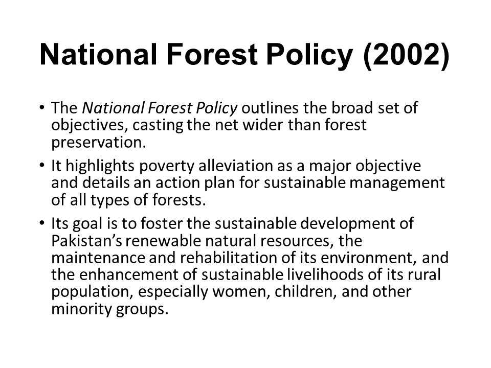National Forest Policy (2002)