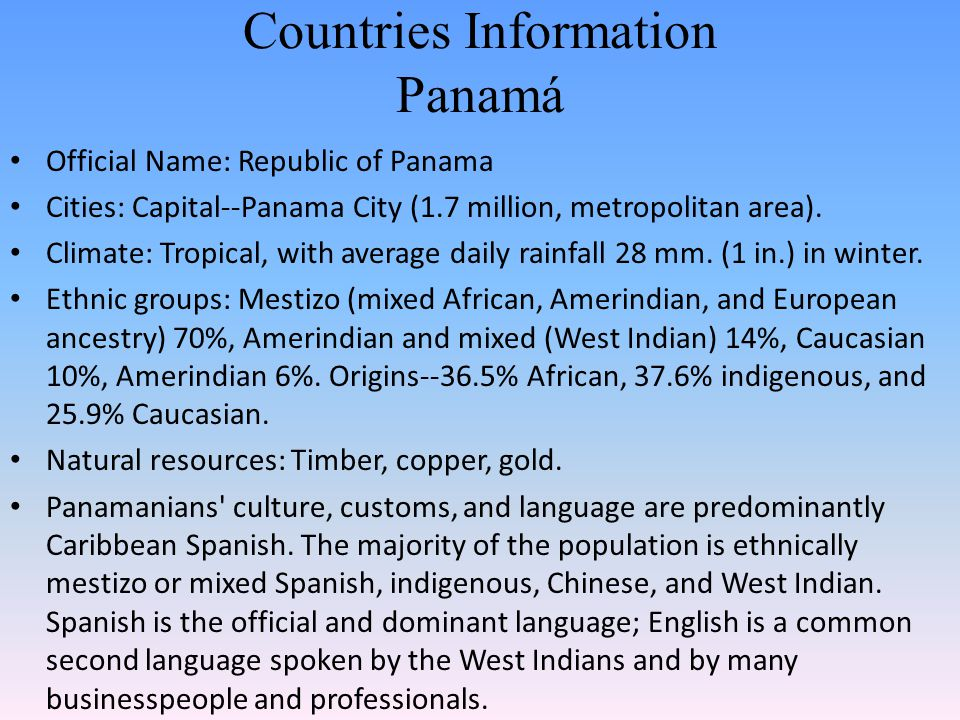 Countries Information Panamá