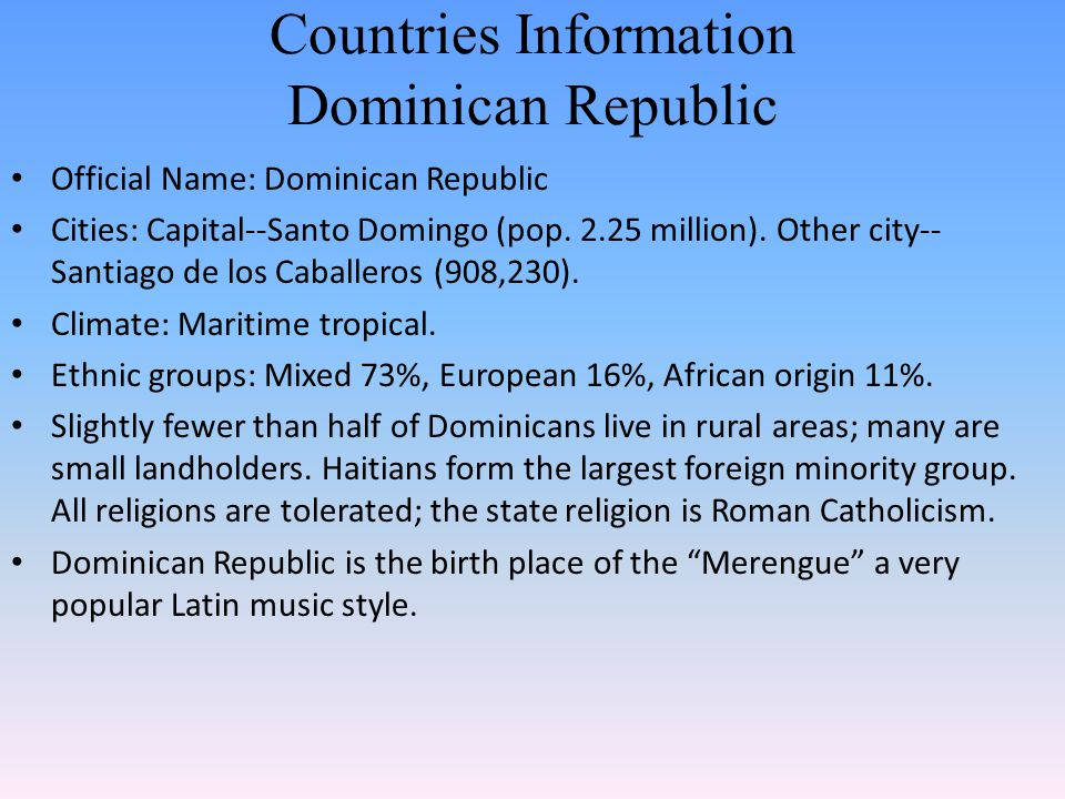 Countries Information Dominican Republic