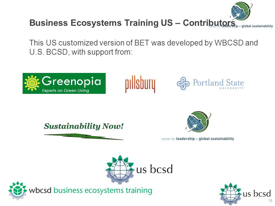 Business Ecosystems Training US – Contributors