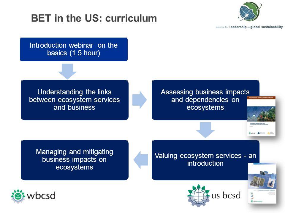 BET in the US: curriculum