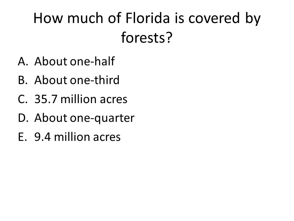How much of Florida is covered by forests