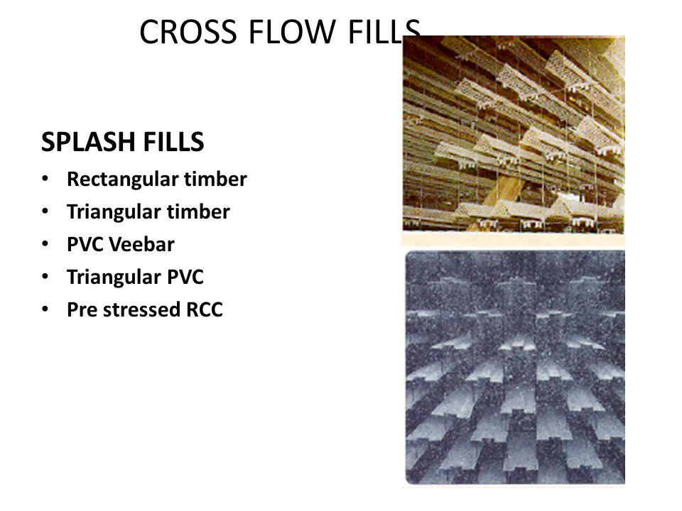 CROSS FLOW FILLS SPLASH FILLS Rectangular timber Triangular timber
