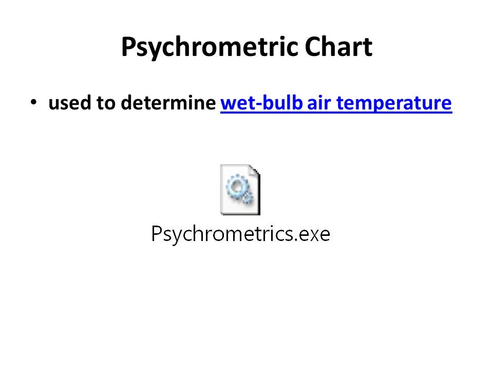 Psychrometric Chart used to determine wet-bulb air temperature