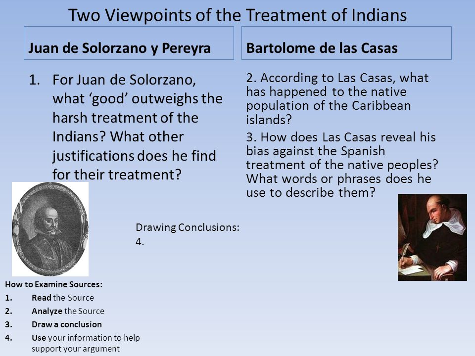 Two Viewpoints of the Treatment of Indians