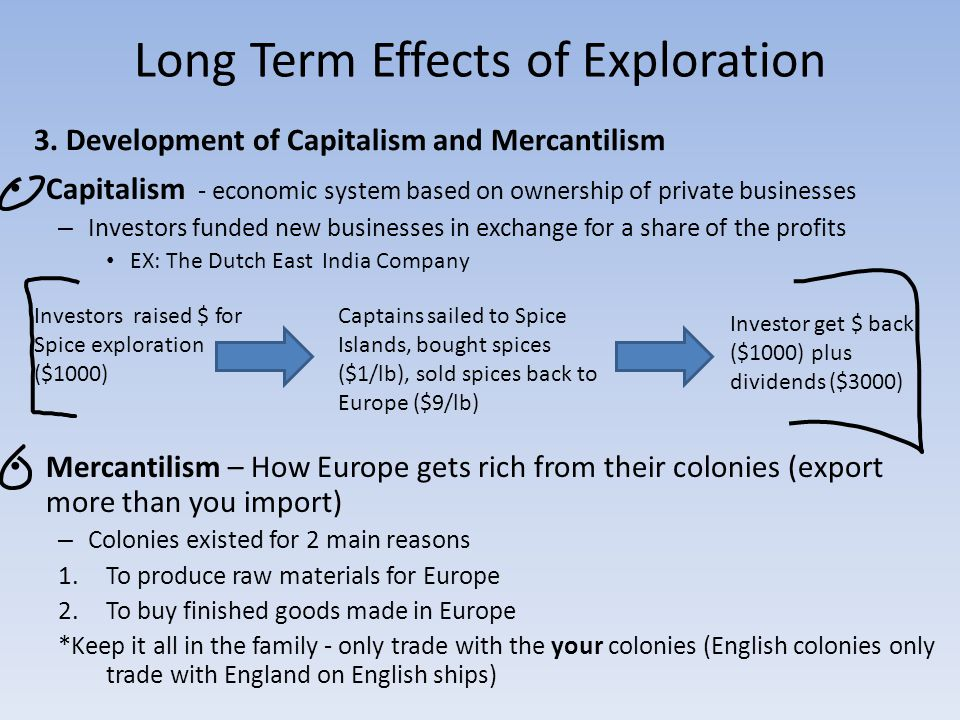 Long Term Effects of Exploration