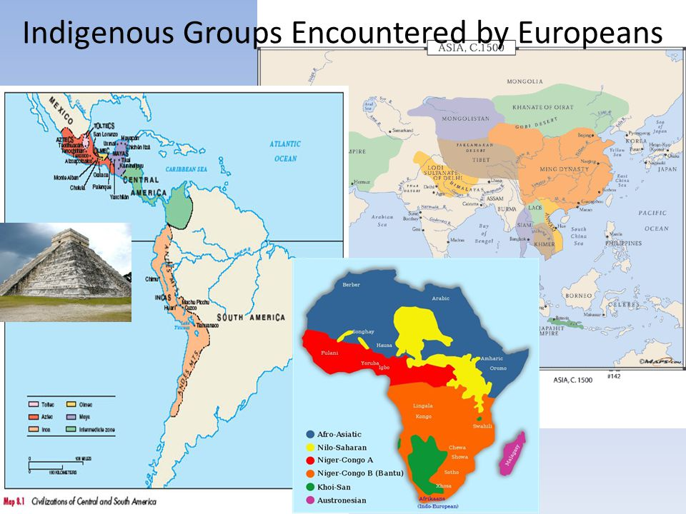 Indigenous Groups Encountered by Europeans