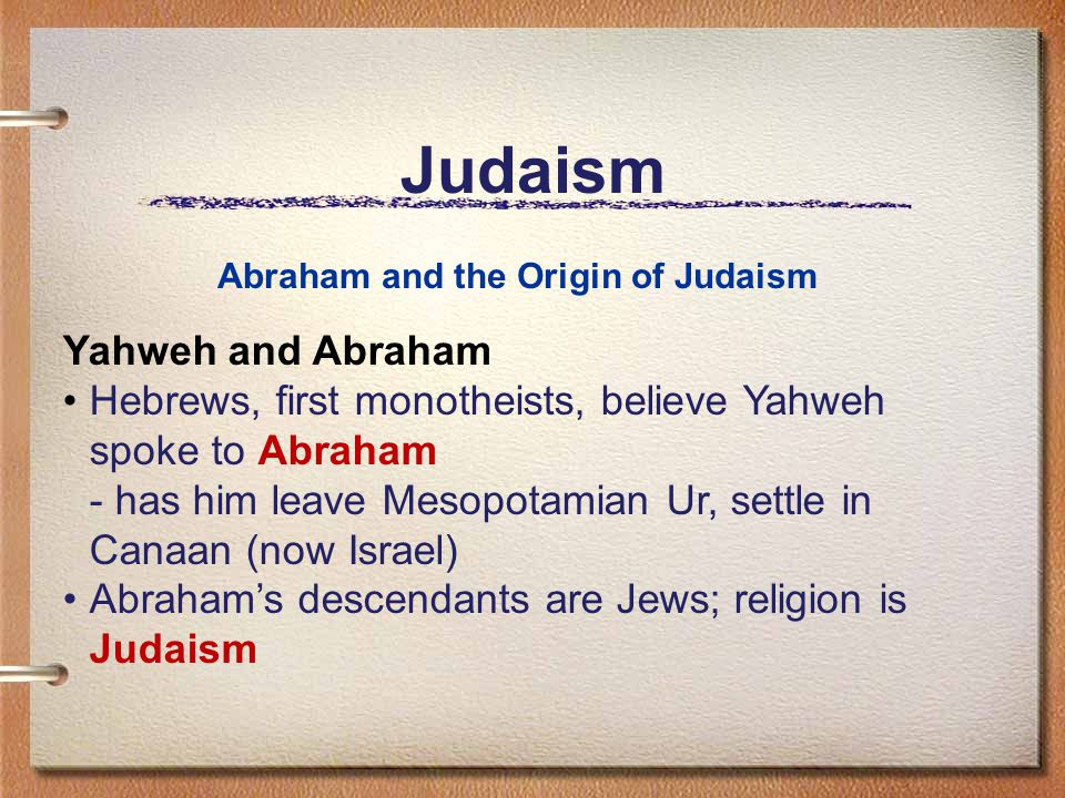 Judaism Yahweh and Abraham