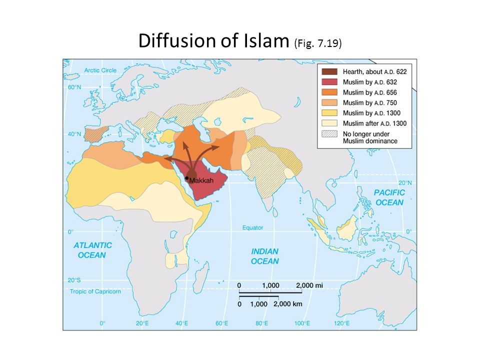 Diffusion of Islam (Fig. 7.19)