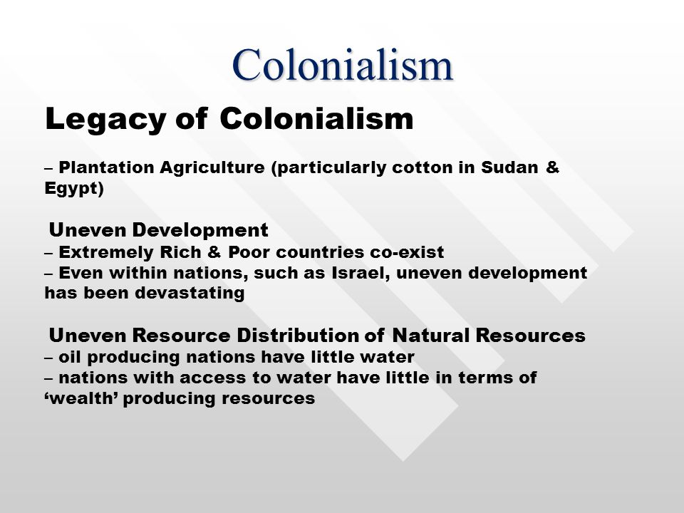 Colonialism Legacy of Colonialism