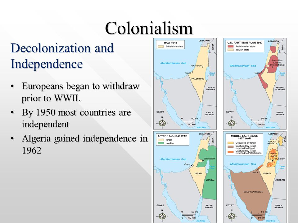 Colonialism Decolonization and Independence