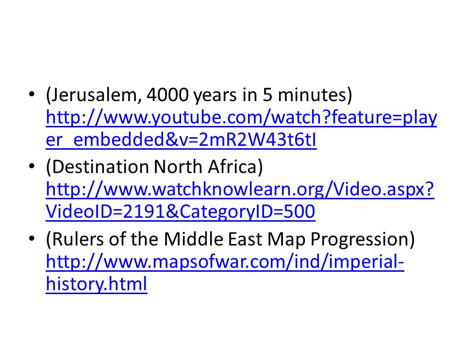 (Jerusalem, 4000 years in 5 minutes) http://www. youtube. com/watch
