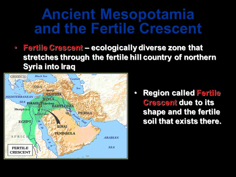Ancient Mesopotamia and the Fertile Crescent