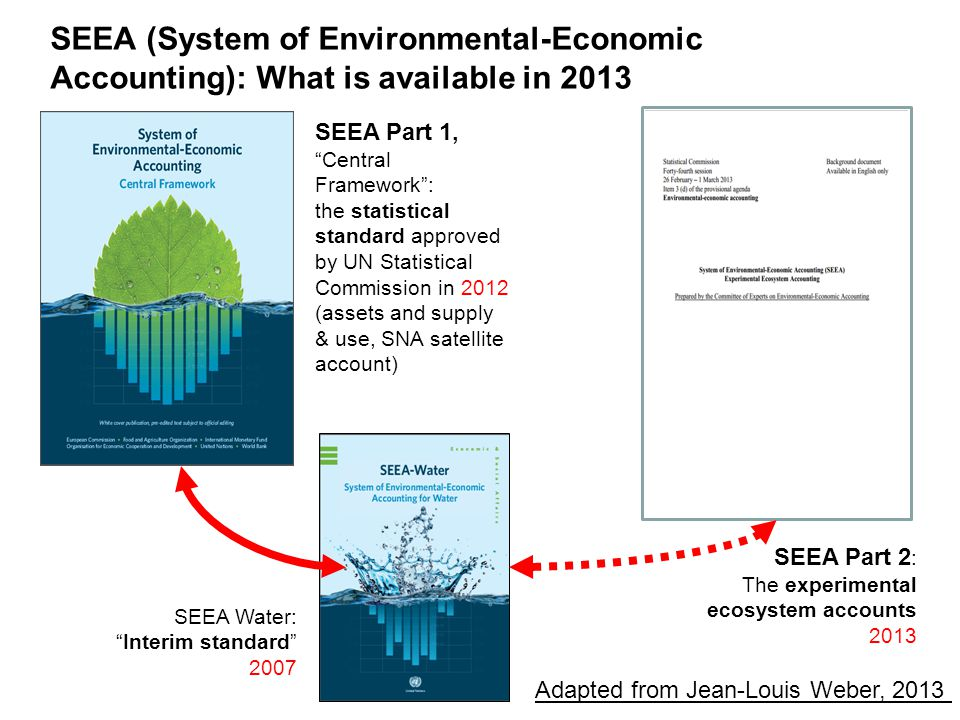 SEEA (System of Environmental-Economic Accounting): What is available in 2013