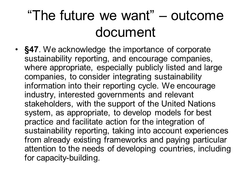 The future we want – outcome document