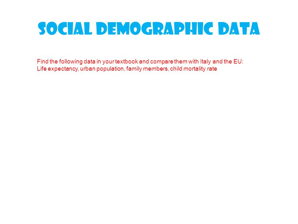 Social demographic data