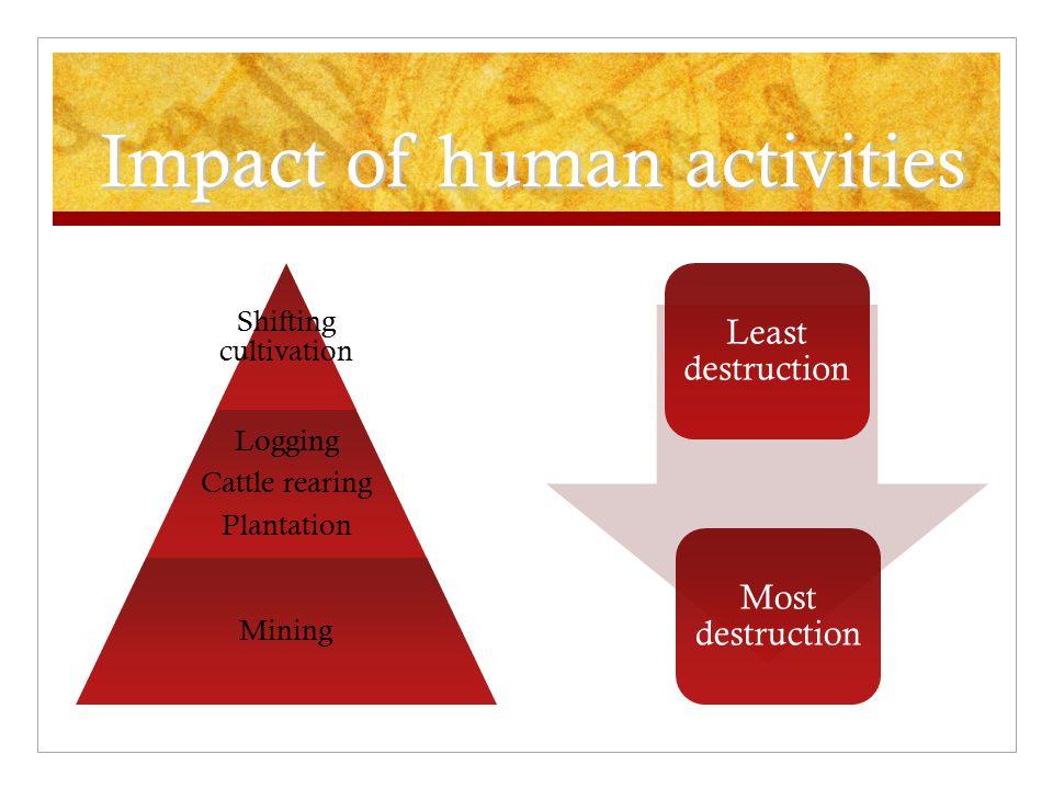 Impact of human activities