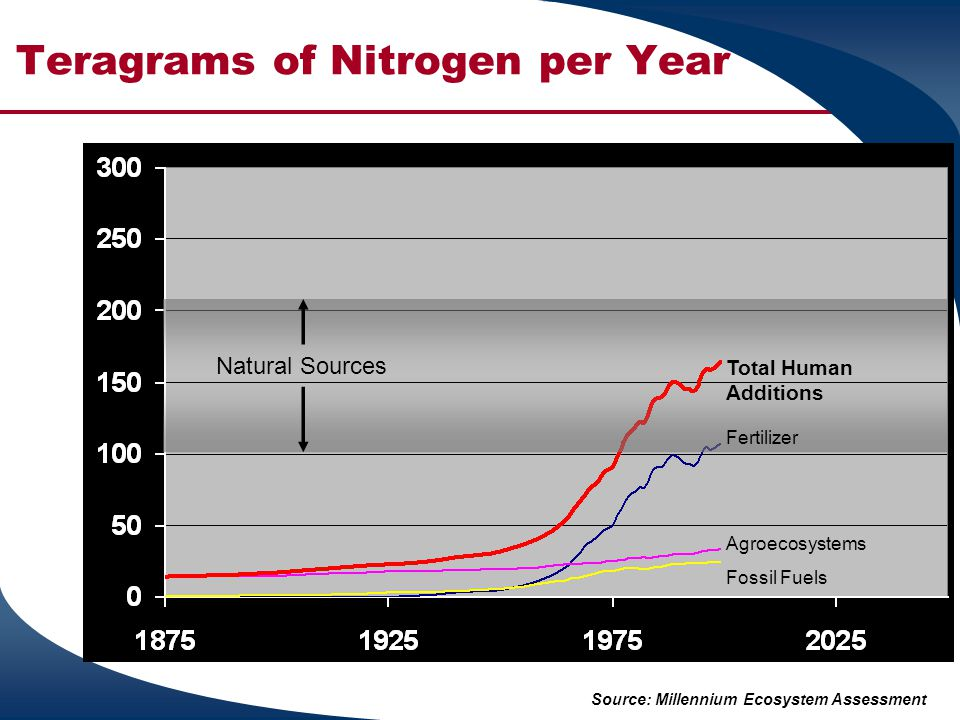 Teragrams of Nitrogen per Year