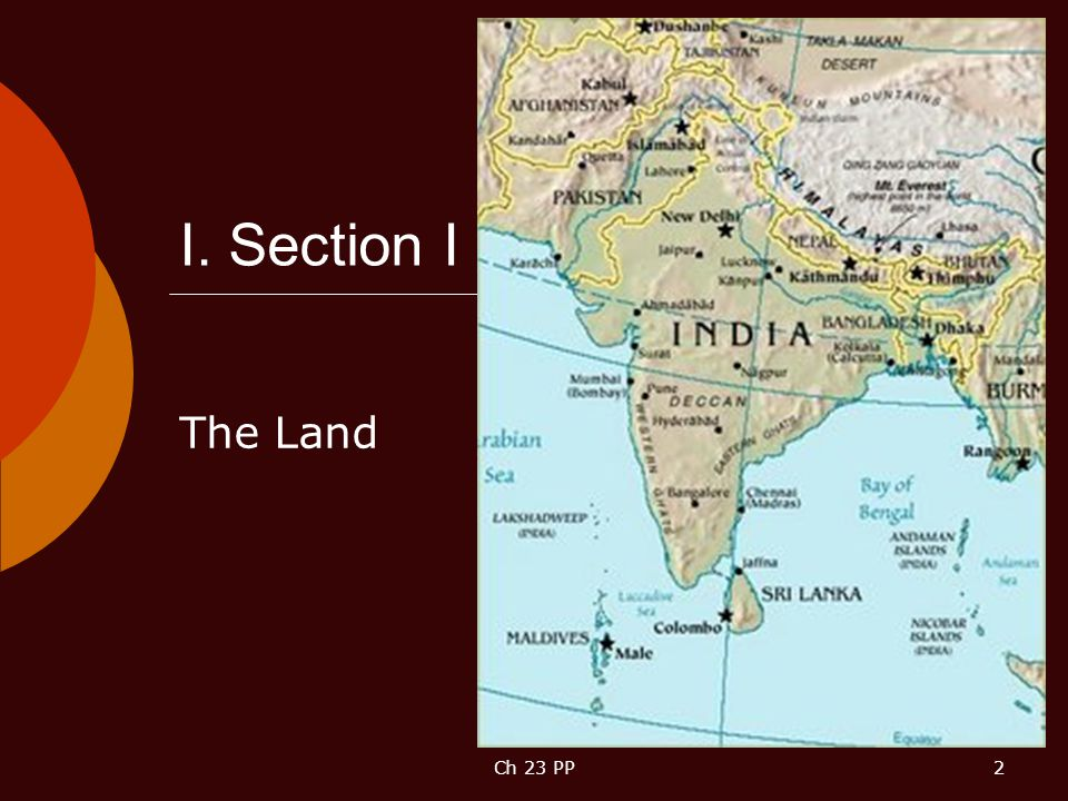 I. Section I The Land Ch 23 PP