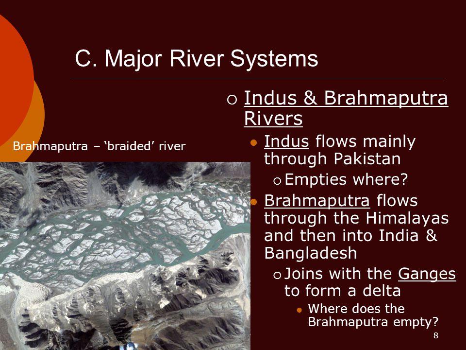 C. Major River Systems Indus & Brahmaputra Rivers