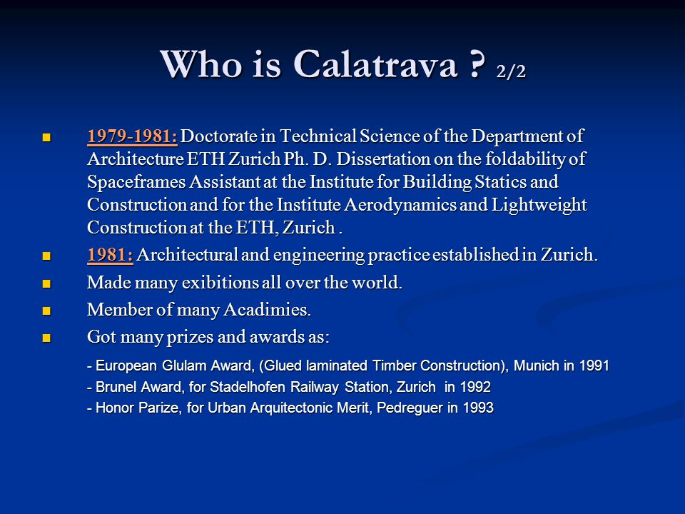 Who is Calatrava 2/2