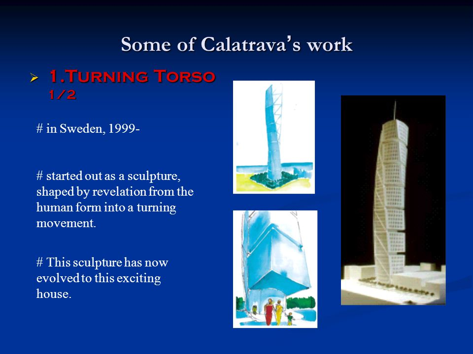 Some of Calatrava's work