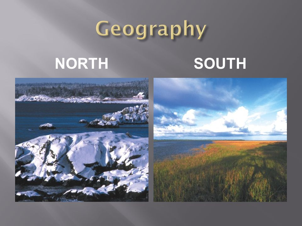 Geography NORTH South