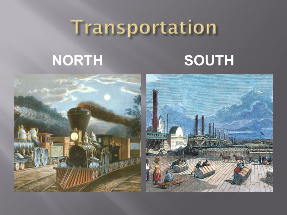Transportation NORTH South