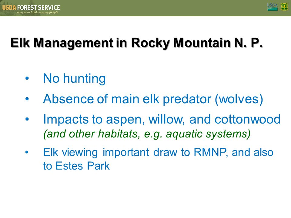 Elk Management in Rocky Mountain N. P.