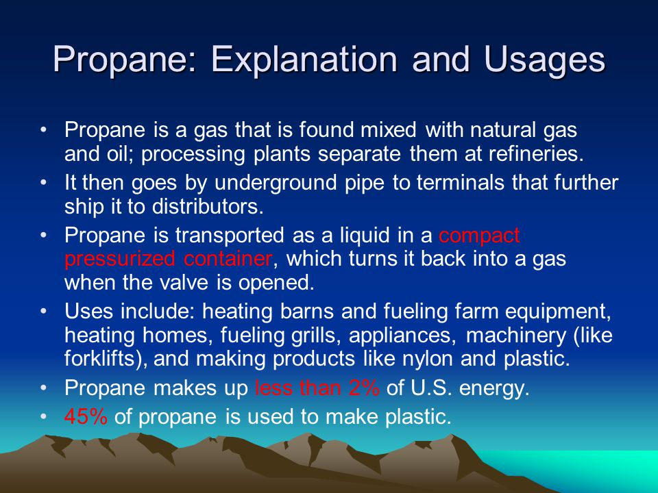 Propane: Explanation and Usages
