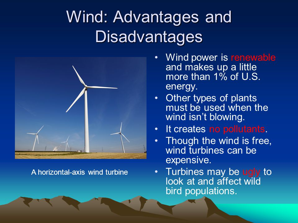 Wind: Advantages and Disadvantages