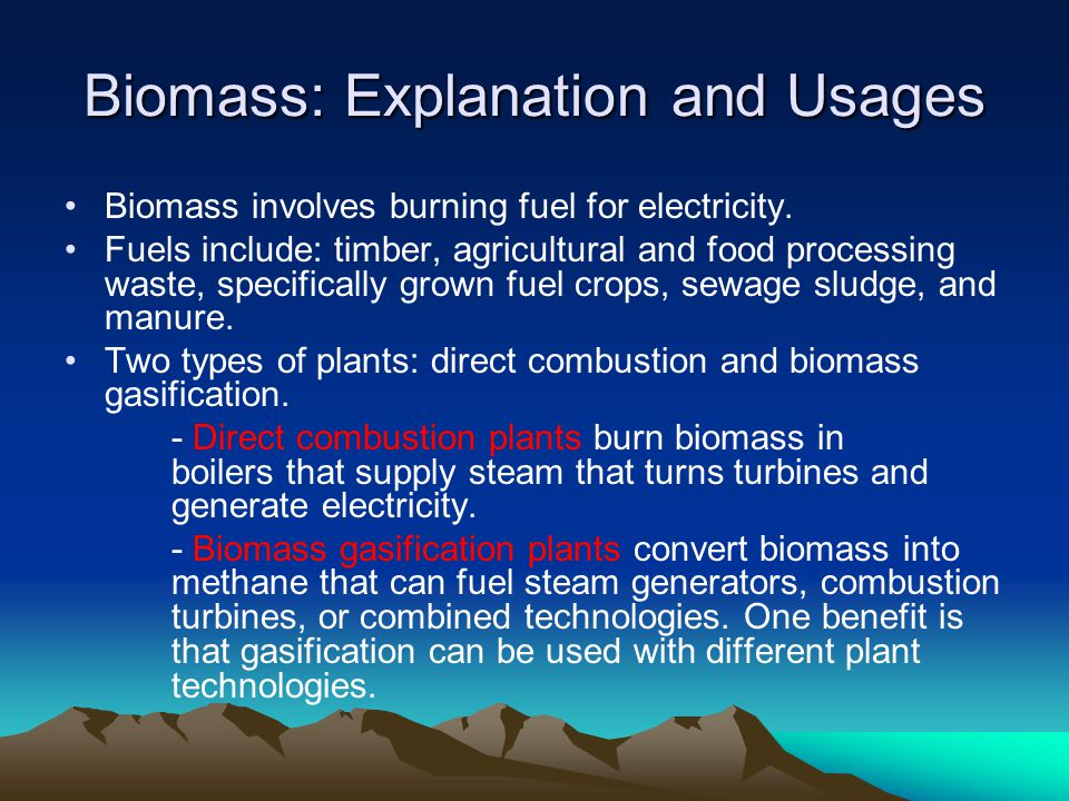 Biomass: Explanation and Usages