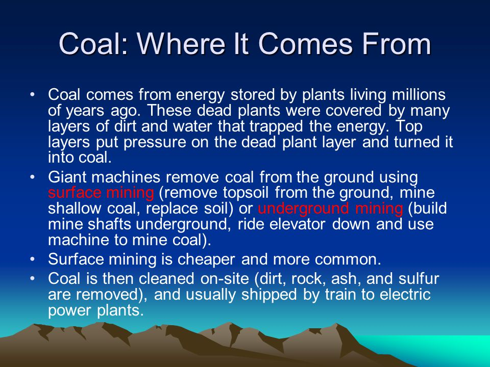 Coal: Where It Comes From