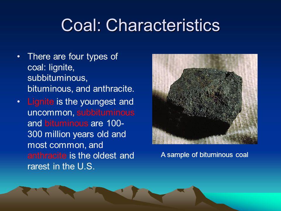 Coal: Characteristics