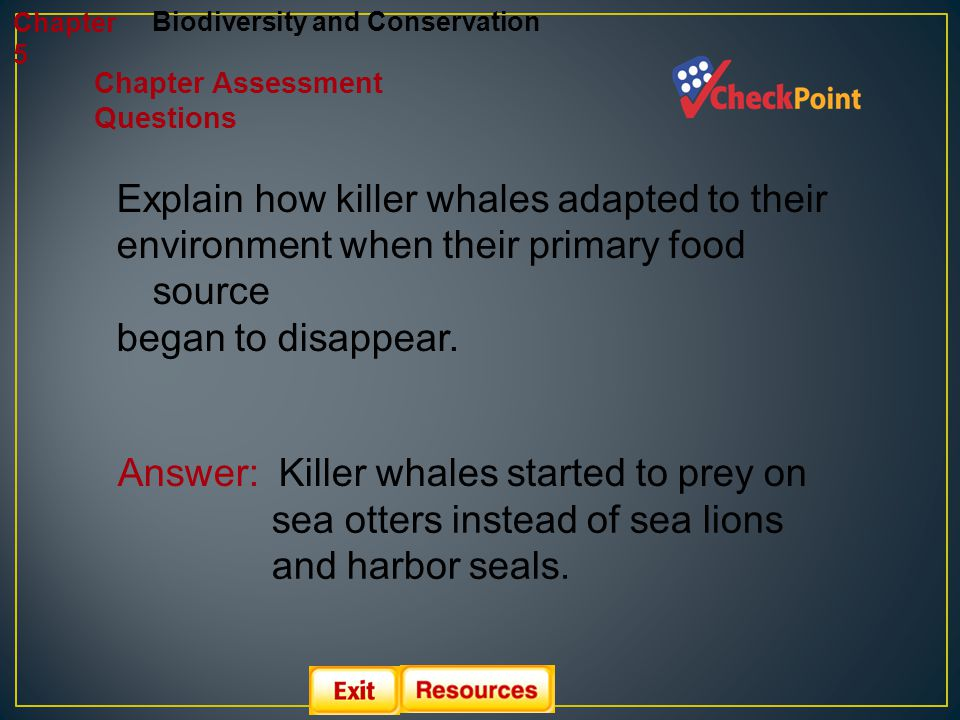 Explain how killer whales adapted to their