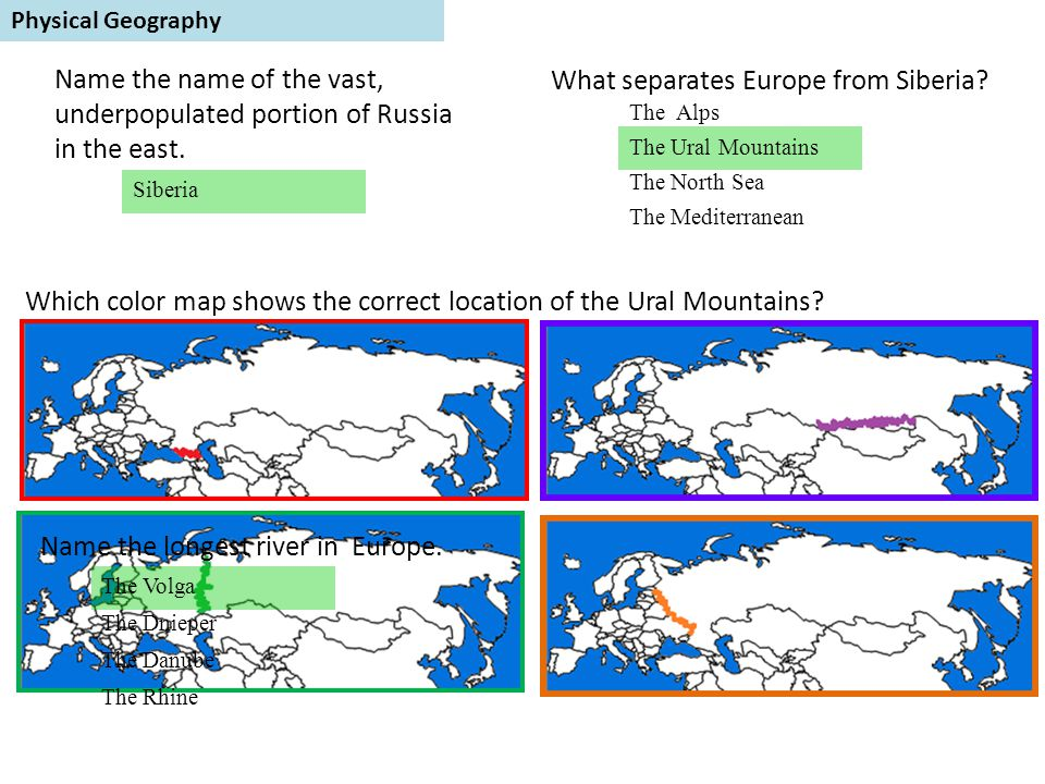 What separates Europe from Siberia