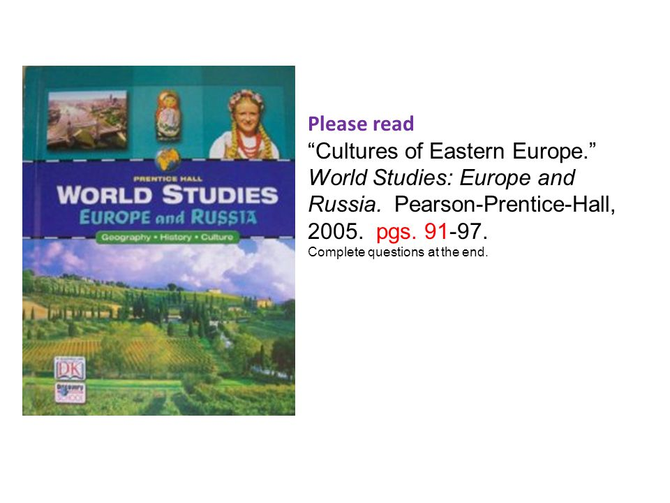 Plains, Uplands, and Mountains of Russia. pgs. 14. AND