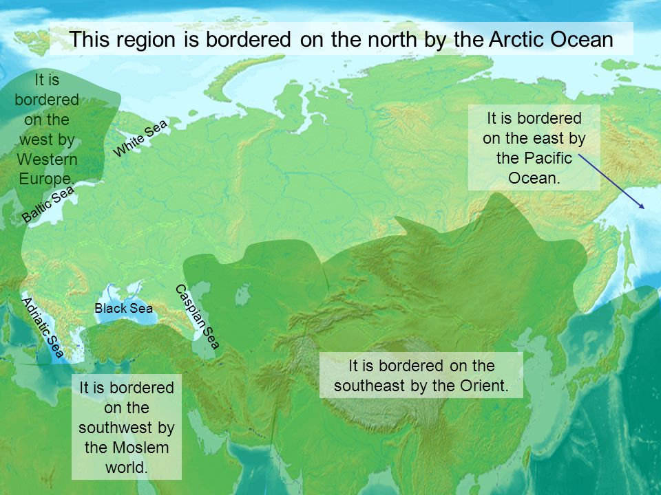 This region is bordered on the north by the Arctic Ocean