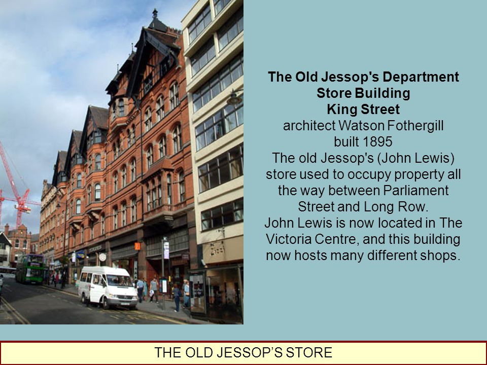The Old Jessop s Department Store Building King Street