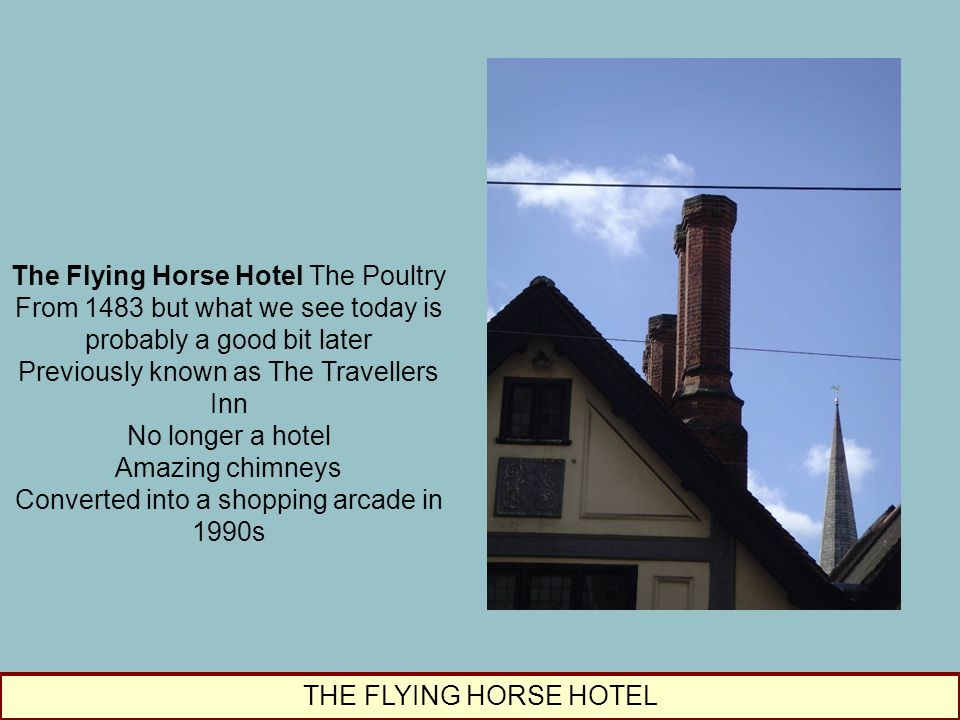 The Flying Horse Hotel The Poultry