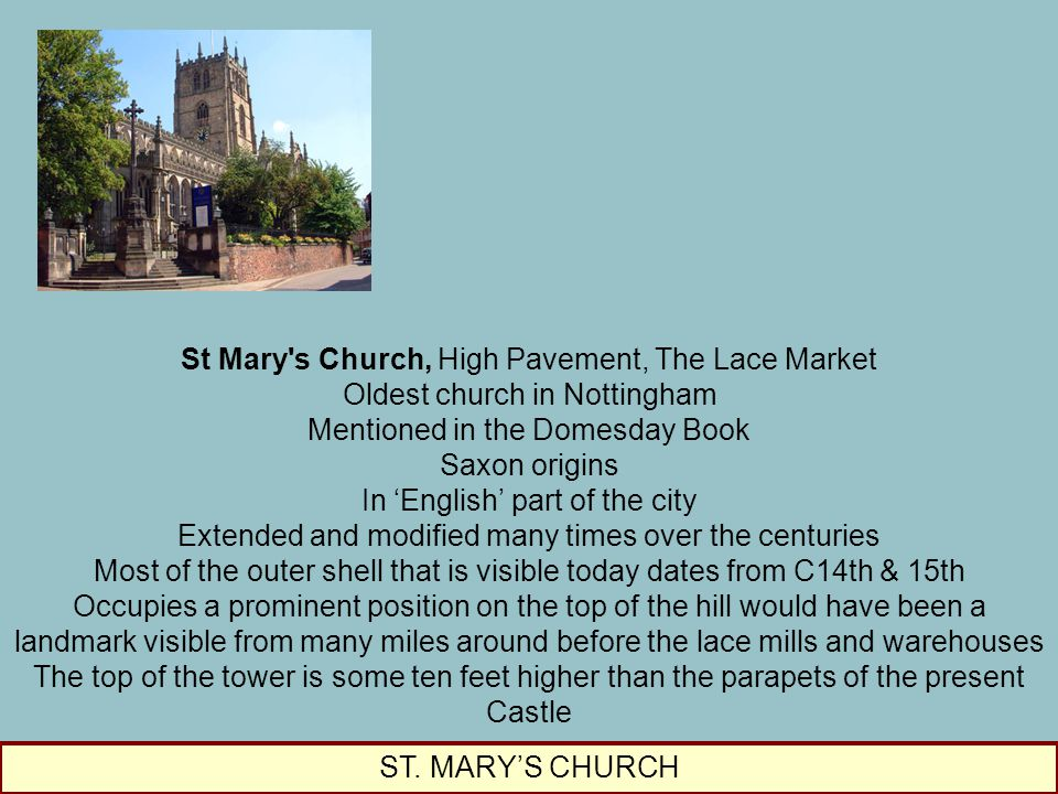 St Mary s Church, High Pavement, The Lace Market