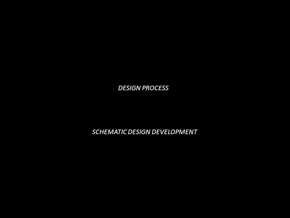 DESIGN PROCESS SCHEMATIC DESIGN DEVELOPMENT