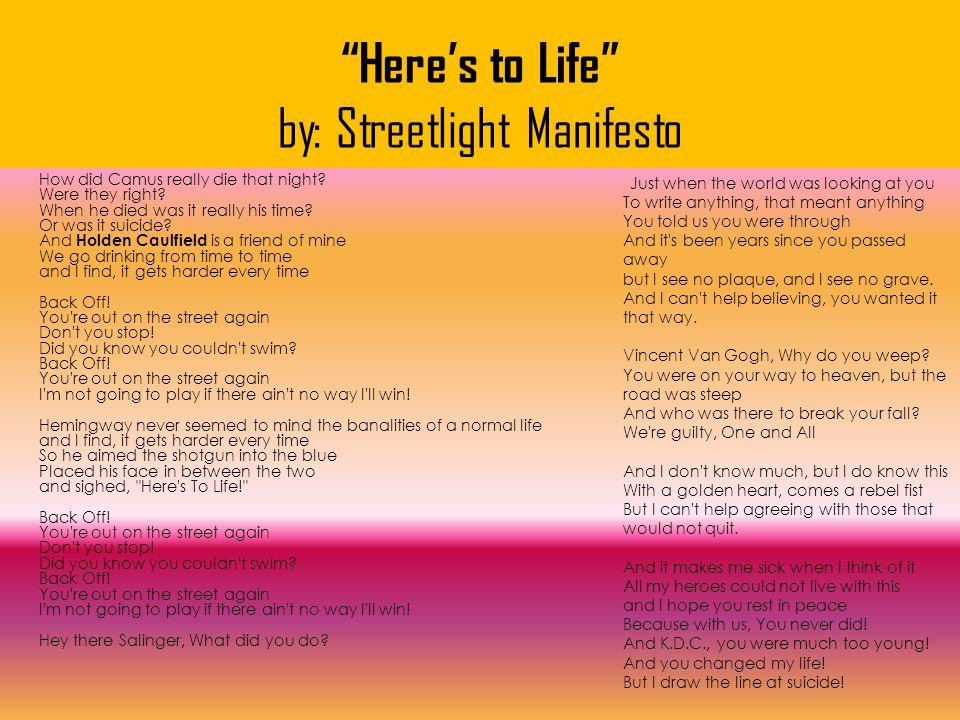 Here's to Life by: Streetlight Manifesto