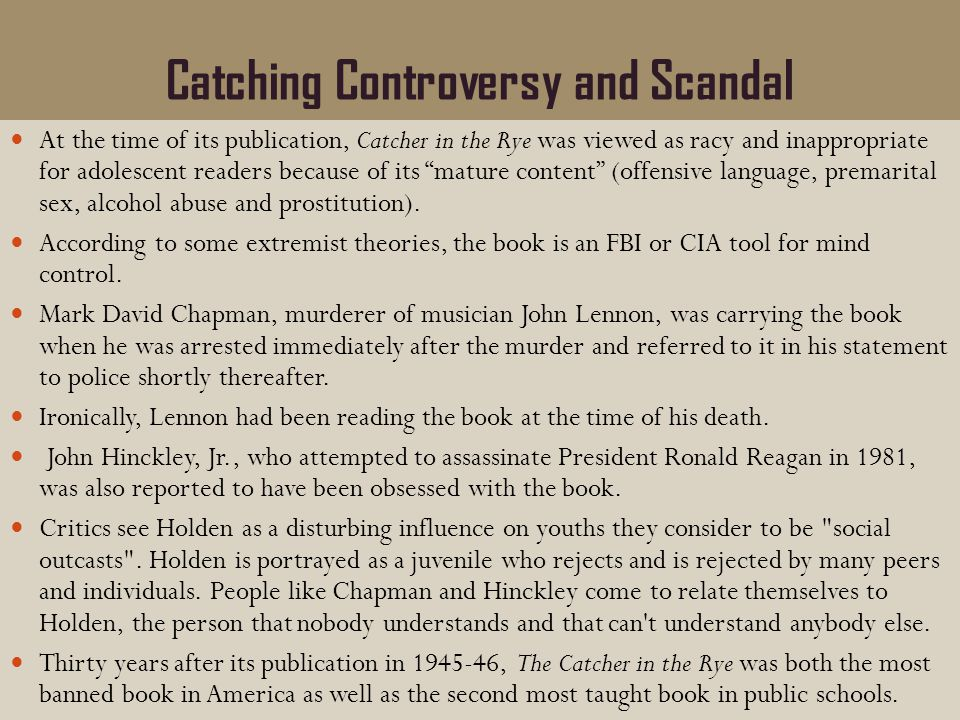 Catching Controversy and Scandal