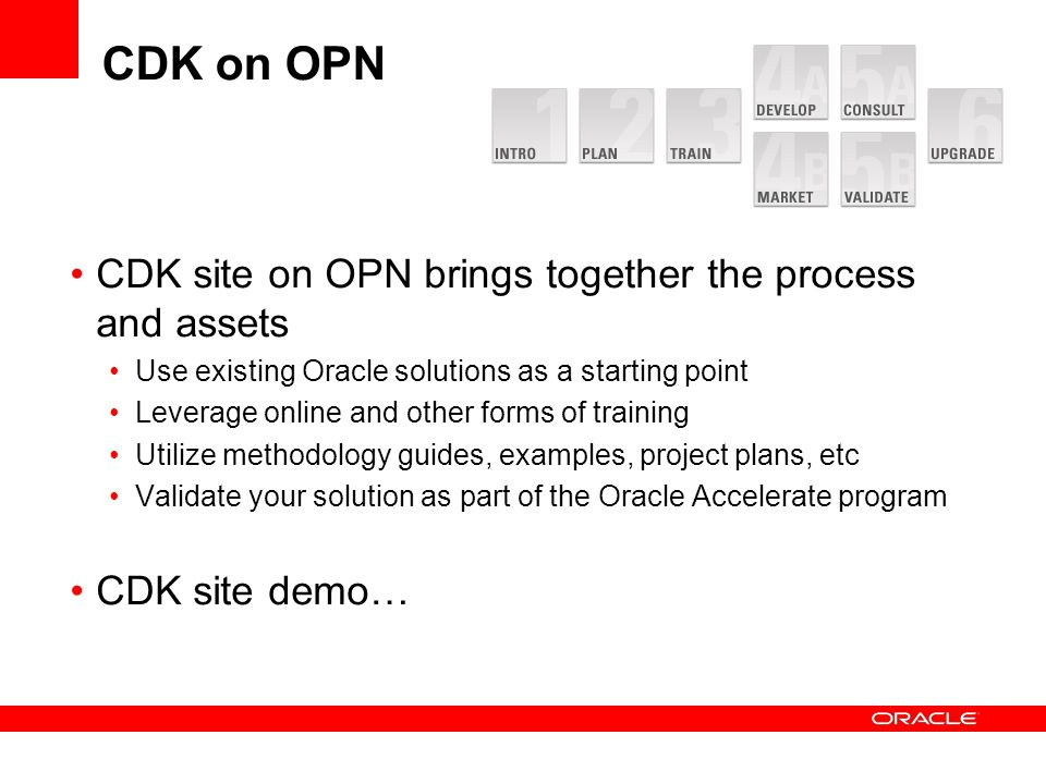 CDK on OPN CDK site on OPN brings together the process and assets