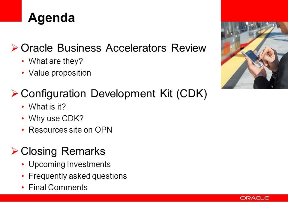 Agenda Oracle Business Accelerators Review