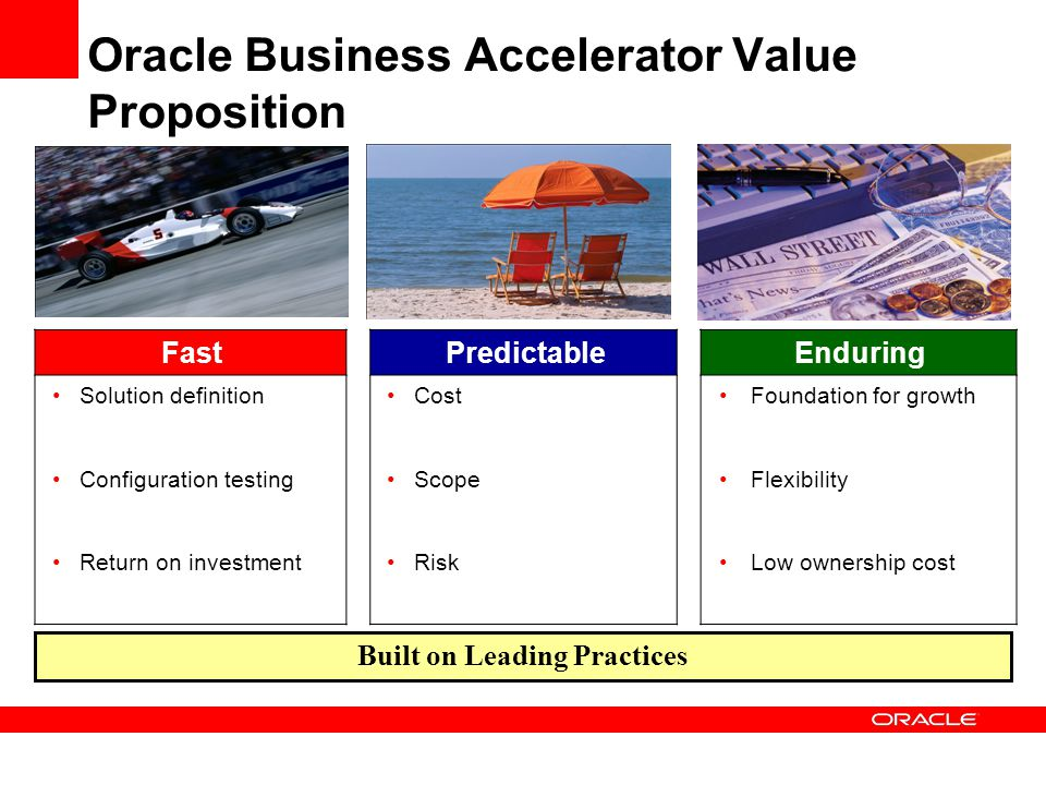Oracle Business Accelerator Value Proposition