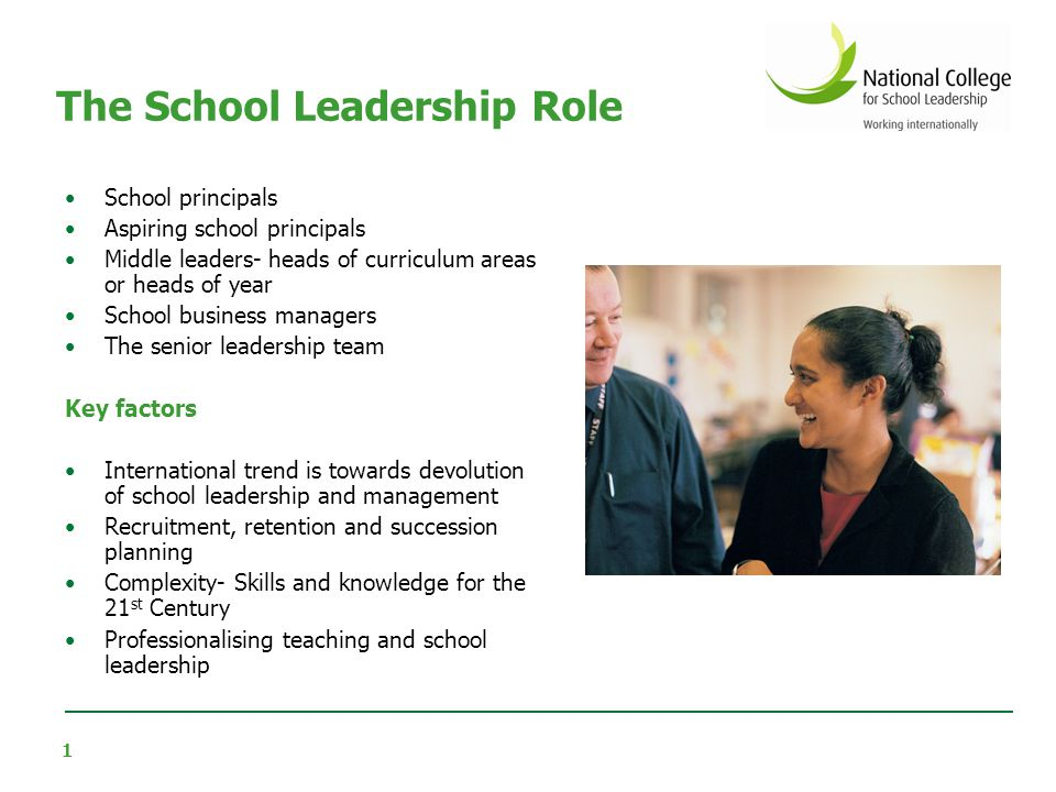 The School Leadership Role