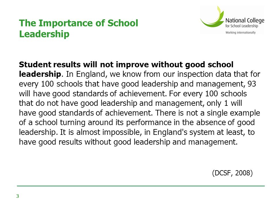 There is an emerging international consensus on how to support school leadership